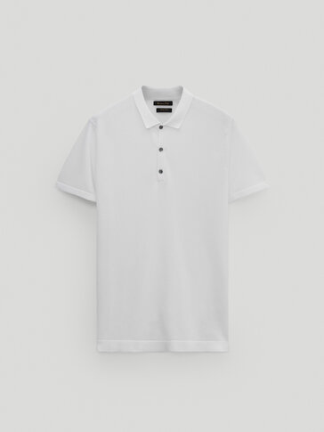 Kortermet cotton pologenser