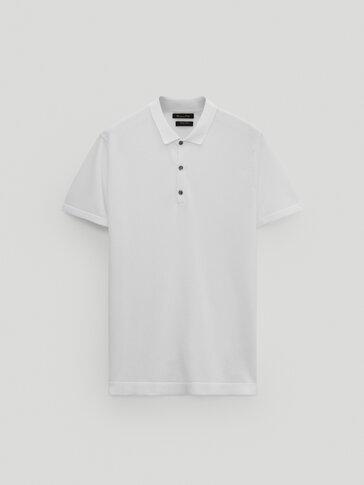 Jersey polo algodón manga corta
