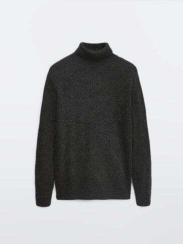 Jersey cuello alto lana