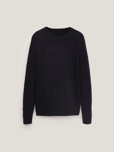 Cashmere wool knit sweater