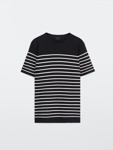 Camiseta de punto rayas algodón