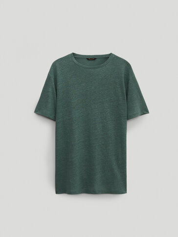 100% linen short sleeve T-shirt