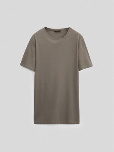 Kortermet t-skjorte i 100 % bomull