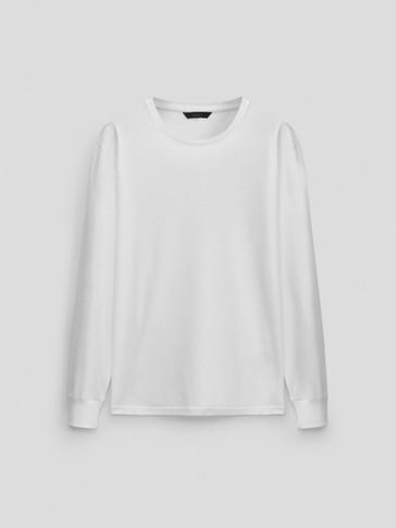 T-shirt en pur coton à manches longues