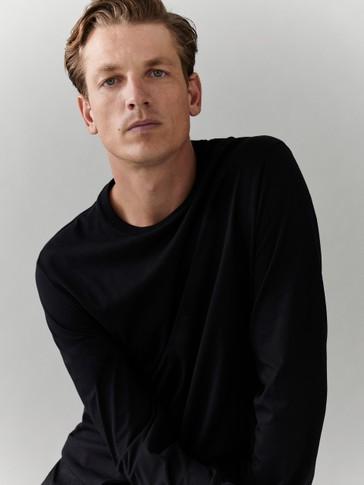 100% cotton long sleeve T-shirt
