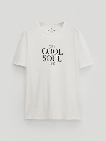 "T-skjorte i cotton - ""The cool soul"""