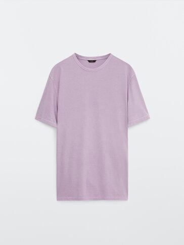 Kurzärmeliges T-Shirt aus reiner Baumwolle