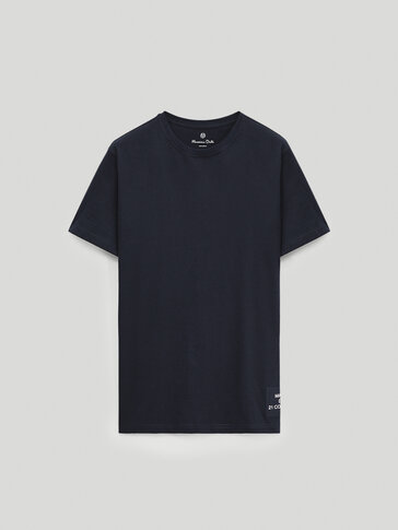 Camiseta manga corta detalle posicional