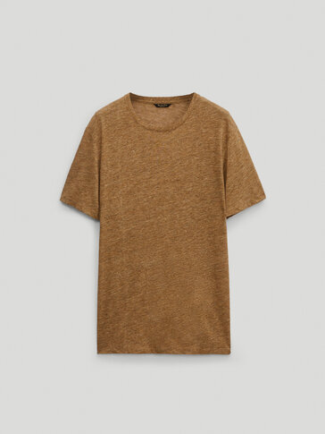 100% linen short sleeve T-shirt -Limited Edition