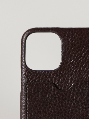 Funda iPhone 11 pro piel con tarjetero