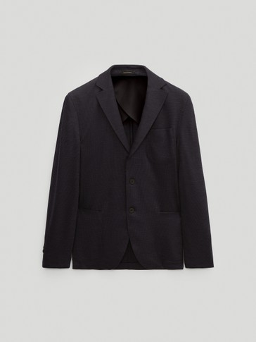 Slim fit 100% wool blazer