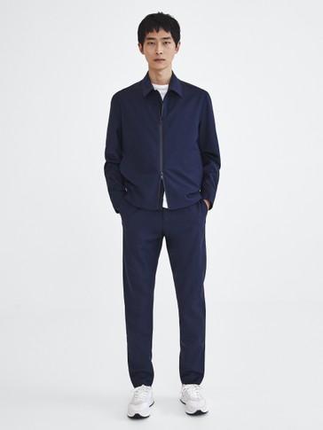 Navy blue wool jacket