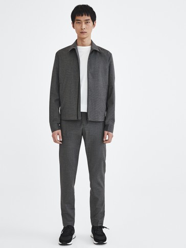 Wool jacket with zip