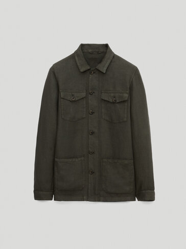 Sobrecamisa 100% lino con bolsillos