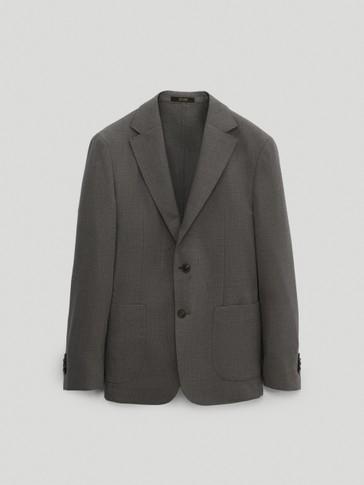 Washable 100% super 120's wool slim city fit blazer