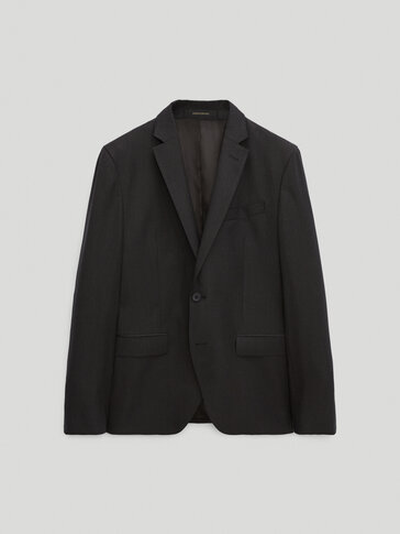 120's wool slim fit blazer