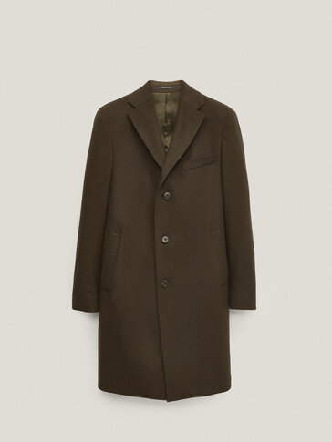 100% wool plain coat
