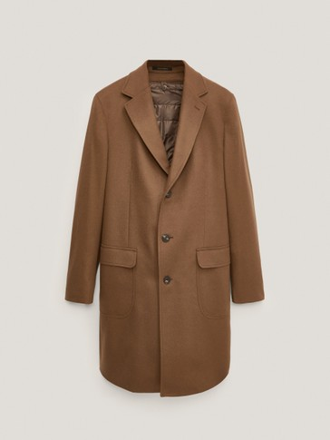 Detachable cashmere wool coat