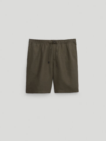 100% linen Bermuda shorts - Limited Edition