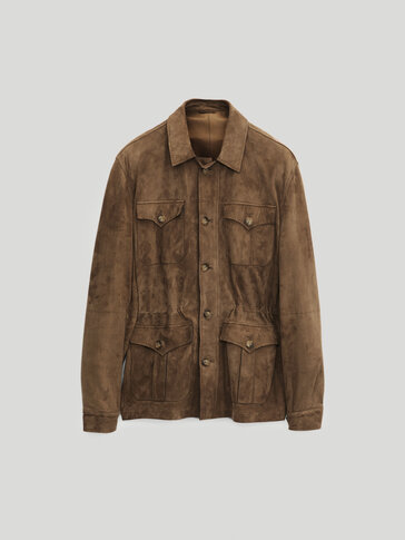 Suede safari jacket