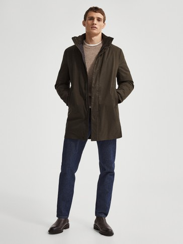 Light technical trench coat