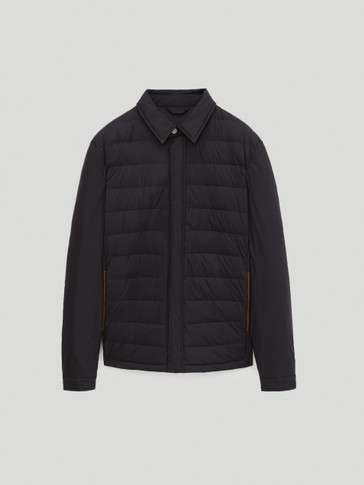 Light down puffer overshirt