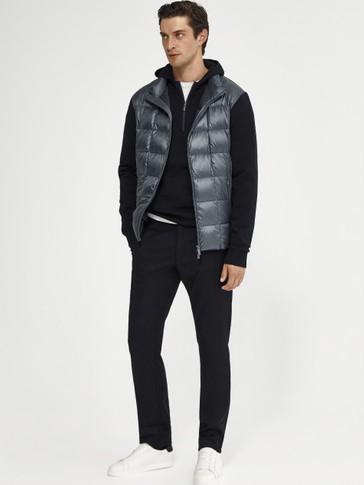 Doudoune façon veste combinée en maille