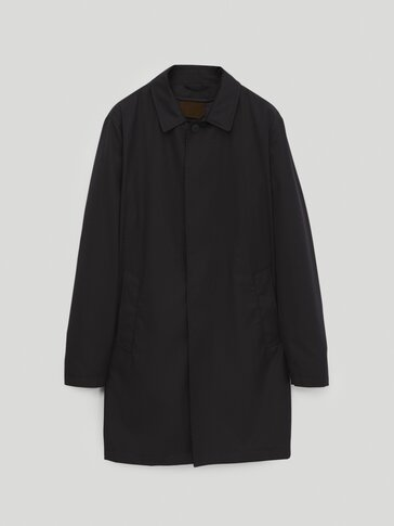 Technical trench coat