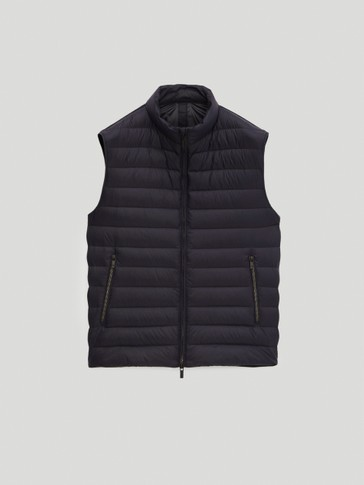 Contrast puffer gilet