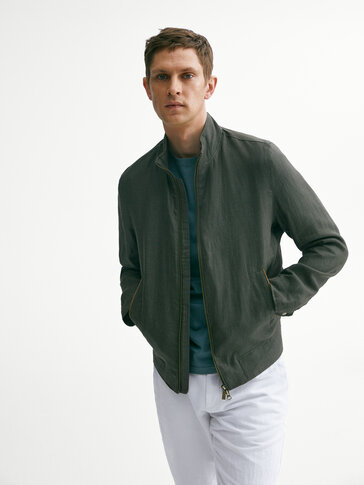 100% linen jacket with zip
