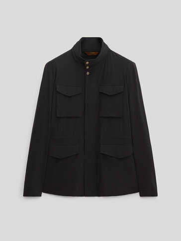 Navy technical jacket with pockets