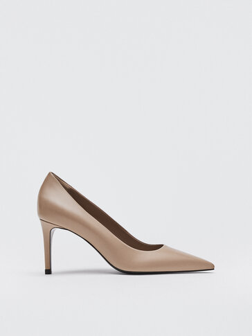 CAMEL-COLOURED HIGH-HEEL SHOES