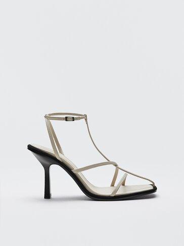 Кожаные босоножки на каблуке, Limited Edition