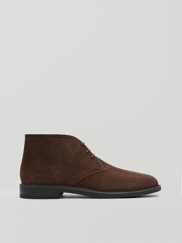 Brown leather safari shoes