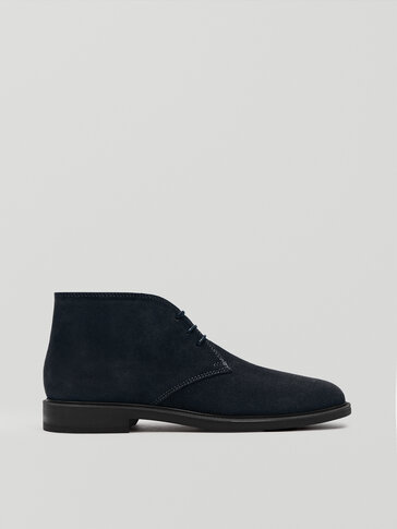 Zapato safari de piel azul