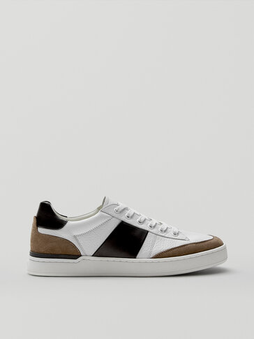 CONTRAST LEATHER TRAINERS - LIMITED EDITION