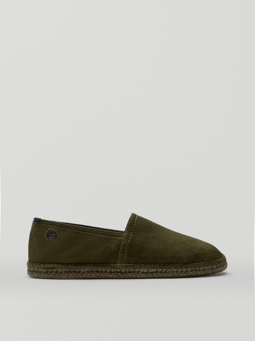Khaki leather espadrilles Limited Edition