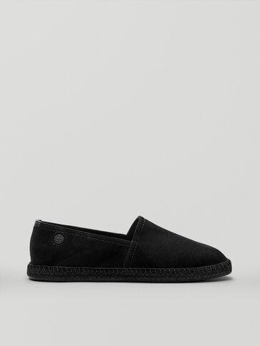 Black leather espadrilles Limited Edition