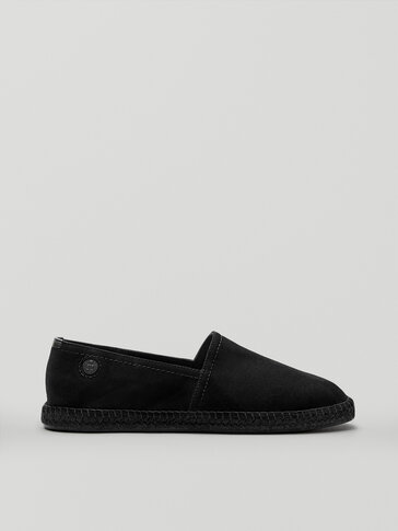 Black leather espadrilles Limited Edition