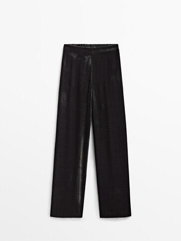 Baršunske hlače s elastičnom pojasnicom