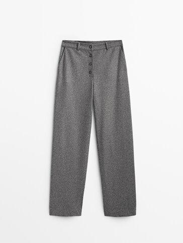 Pletene vunene hlače