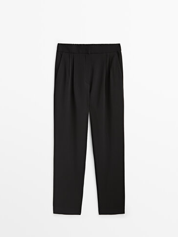 Crepe suit trousers