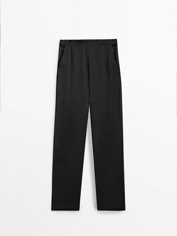 Fluidne satinirane hlače