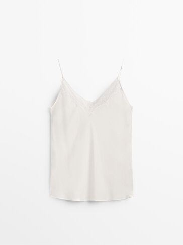 Lace camisole top