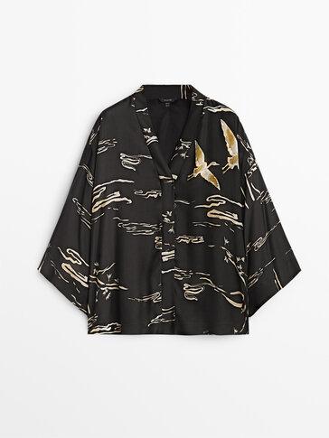 Kimono corto stampato