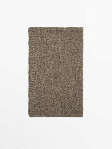 Écharpe en maille mélange de laine