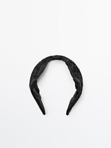 Svilen obroč za lase s kamenčki