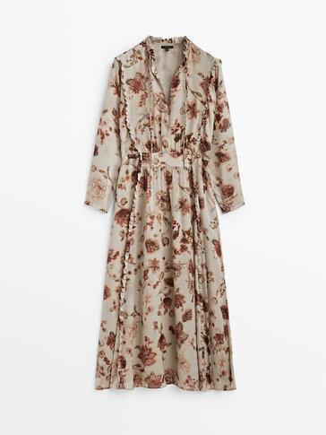 Dlhé vzorované šaty